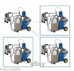 Best Electric Milking Machine Farm Cows Milk Bucket 2 Plug 25 L Stainless Steel