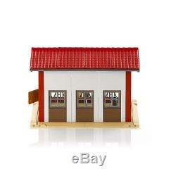 Bruder Toys 62621 Cow Barn Playset with Milking Machine, Cow, and Accessories