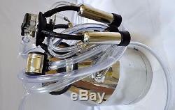 Complete Cow Bucket MilkerOil-less Vacuum Pump+Tank+Pulsator+Claw+Shells+Liners