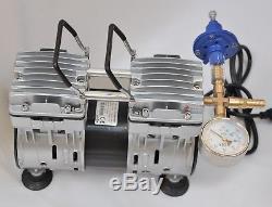 Controlled Twin Piston Oil-less Vacuum Pump 6CFM CowithGoat Milker Pulsator Hookup