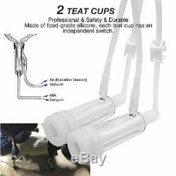 Cow Goat Milking Machine, Pulsation Vacuum Pump Milker, Automatic Portable Live