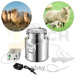 Cow Goat Milking Machine with 2 Teat Cups 14L Automatic Portable Livestock