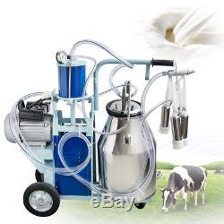 Cow Milker Electric Piston Milking Machine For Cows Farm 25L Bucket 0.55KW 220V