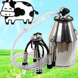 Cow Milker Portable Milking Machine Barrel 304 Stainless Steel Bucket Cattle 25L
