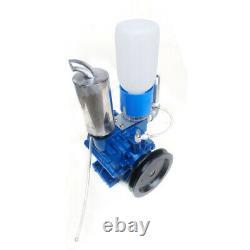 Cow Milking Machine Vacuum Pump Sheep Cow Milker Bucket Tank Barrel 250L/min USA