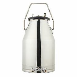 Dairy Cow Bucket Tank Barrel Milker Milking Machine Stainless Steel Newest 25L