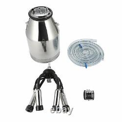 Dairy Cow Milker Milking Machine Bucket Tank Barrel Stainless Steel 25L NEW