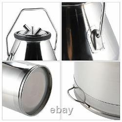 Dairy Cow Milker Milking Machine Bucket Tank Barrel Stainless Steel 25L WLF