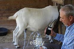 Dansha Farms Goat Sheep Cow Milk Machine Rechargeable Pac 1 Quart Two Teat