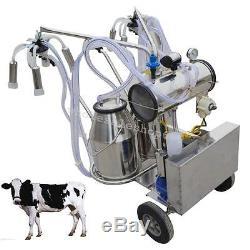 Double TankMilker Electric Milking Machine Milker Vacuum Pump Cow Cattle Farm