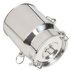 Electric Barrel Milking Machine Portable Vacuum Pump for Cow Goat Milker 5L