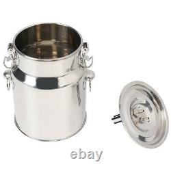 Electric Barrel Milking Machine Portable Vacuum Pump for Cow Goat Milker 5L NEW
