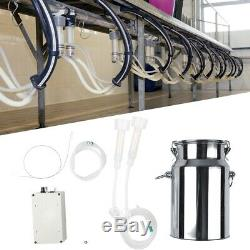 Electric Barrel Milking Machine Vacuum Pump for Cow Goat Milker Tank 7L