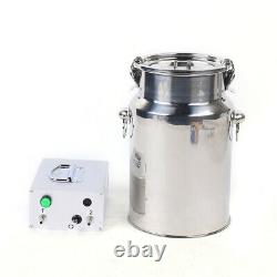 Electric Cow Milking Machine Dairy Cattle Cow Milker With 7L Milker Bucket 110V