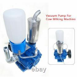 Electric Cow Milking Machine Vacuum Pump Farm Cow Milker Bucket Barrel 250L/min