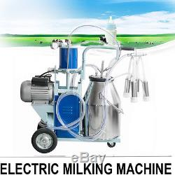 Electric Milking Machine 25L Bucket Milker For Dairy Farm Goats Cows CattleUSA