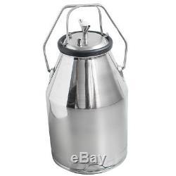 Electric Milking Machine For Farm Cow Bucket 25L SS Piston Pump Vacuum 64/min