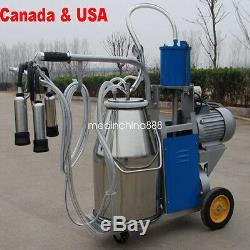 Electric Milking Machine For Farm Cows 25L Bucket Vacuum Piston Pump 25 days