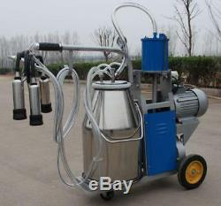 Electric Milking Machine For Farm Cows With 25L Bucket Warranty Fast Ship