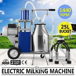 Electric Milking Machine For Farm Cows WithBucket 12Cows/hour 304 Stainless Steel