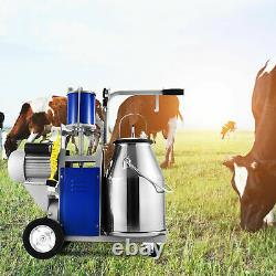 Electric Milking Machine For Farm Cows WithBucket Adjustable 12Cows/hour Milker