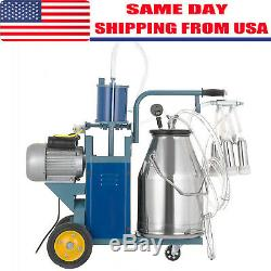 Electric Milking Machine For Farm cows 25L Bucket Easy to manoeuvre Stainless US