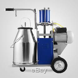 Electric Milking Machine For farm cows + Bucket Bucket Automatic Vacuum Pump US