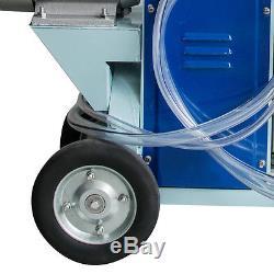 Electric Milking Machine Milker Cows Vacuum Pump+25L Bucket Barrel WithWheel