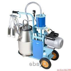 Electric Milking Machine Milker Farm Cows Goat + 25L Bucket Stainless Steel 550W