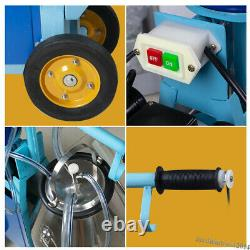 Electric Milking Machine Milker For Farm Cows 25L Bucket Stainless Steel 1440RPM