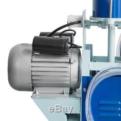 Electric Milking Machine Milker farm Cow Bucket 25L SS Vacuum PistonPump Auto CE
