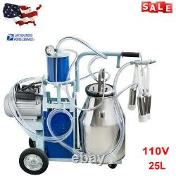 Electric Milking Machine Milker farm Cows Bucket 25L 304 Stainless Steel Bucket