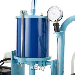 Electric Milking Machine for Cows and Goats with 25L/6.6GAL Milking Bucket