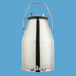 FDA Electric Milking Machine Milker Vacuum For Cows 25L Bucket Stainless Steel