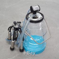 GLF Portable Transparent 25L Cow Milker Dairy Milking Machine Bucket Tank Barrel