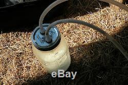 Goat Sheep Cow Hand Vacuum Milk Machine 1 Quart Bottle 2 teat Dansha Farms tm