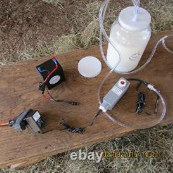 Goat Sheep Cow Rechargeable 12 Volt 120 Volt or 220 Volt 1 Gallon