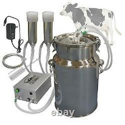 Hantop Cow Goat Milking Machine, Pulsation Vacuum Pump Milker, Automatic Port