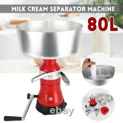 Manual Milk Cream Centrifugal Separator Machine 80L/H Suitable for Goat Cow Milk