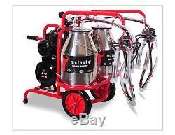 Melasty Cow Milking Machine Portable Electric Milking System Twin Buckets