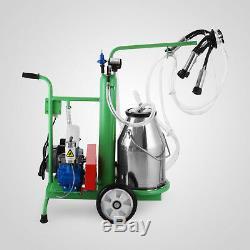 Milker Electric Piston Milking Machine For Cows Farm Bucket