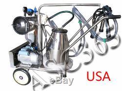 Milker Electric Vacuum Pump Milking Machine For Cows Farm Bucket