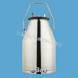 Milker electric Milking Machine F/ farm cow Vaccum Pump Bucket 25LUSA SHIPgift