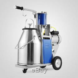 Milking Electric Machine Milker For farm Cows Bucket 25L 304 Stainless Pump