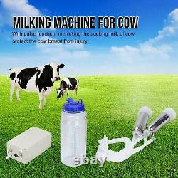 Milking Machine for Cow 2L Portable Household Electric Cow Milker Vacuum-Puls