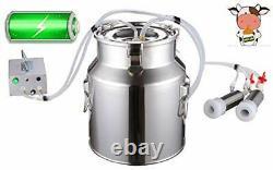 Milking Machine for Goats Rechargeable Battery Vacuum Pump Milker Automatic 14L