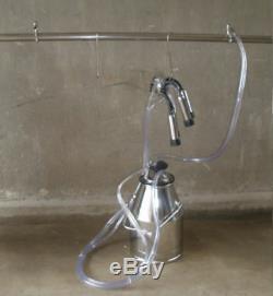 NEW Portable Cow Bucket Milker Milking Barrel Tank Machine -304 stainless steel