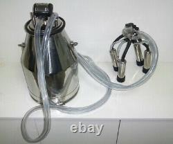 NEW Portable Cow Milker Milking Bucket Barrel Tank Machine 304 Stainless Steel