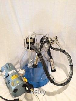 NEW! Visi Bucket One Cow Complete Portable Milker Milk Machine Ready To Milk