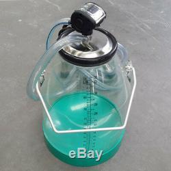 NZL Portable Cow Milker Dairy Milking Machine Bucket Tank Barrel with Scale Line